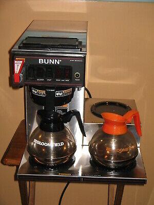 Bunn Coffee Maker W Hot Water Dispenser 2 Burner Warmer