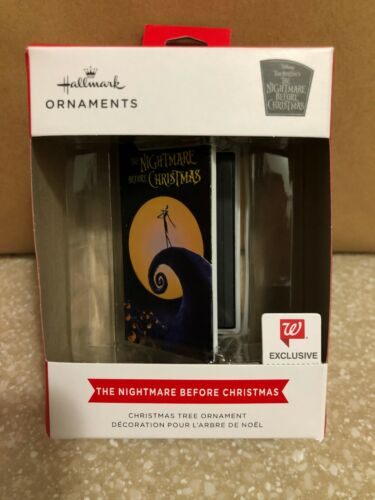 Hallmark 2021 Nightmare Before Christmas VHS Red Box Ornament *SAVE