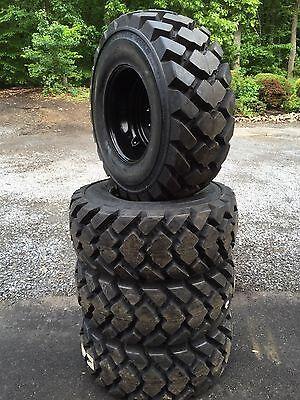 4 Galaxy Hulk L5 14-17.5 Skid Steer Tireswheelsrims For Case - 14x17.5