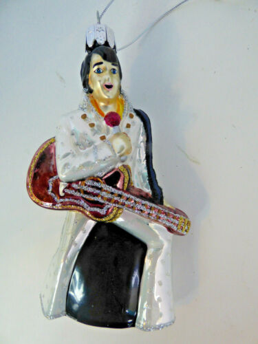 Elvis Presley Kurt  Adler Glass Christmas Tree Ornament  Hand Painted Elvis