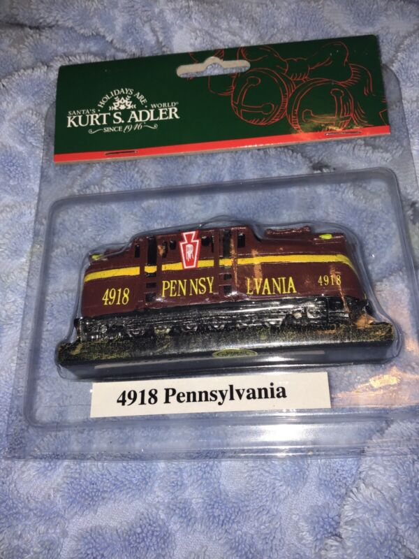 Kurt S. Adler Christmas Tree Ornament 4918 Pennsylvania Train Engine New