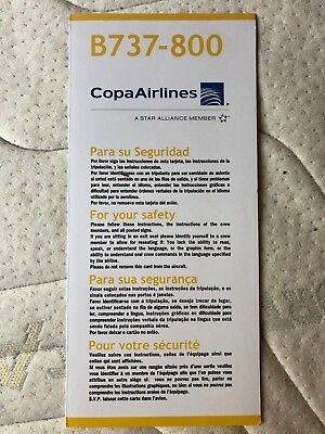 Safety Card   Copa Airlines B737 800