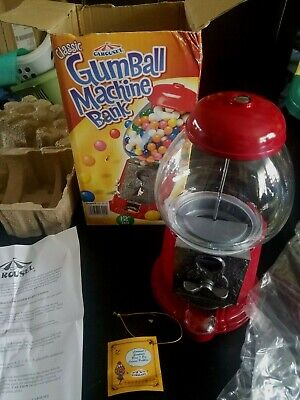 Carousel Gum Ball Machine Bank; Diecast Metal & Glass Globe;Kids DECOR;KOHLS NIB