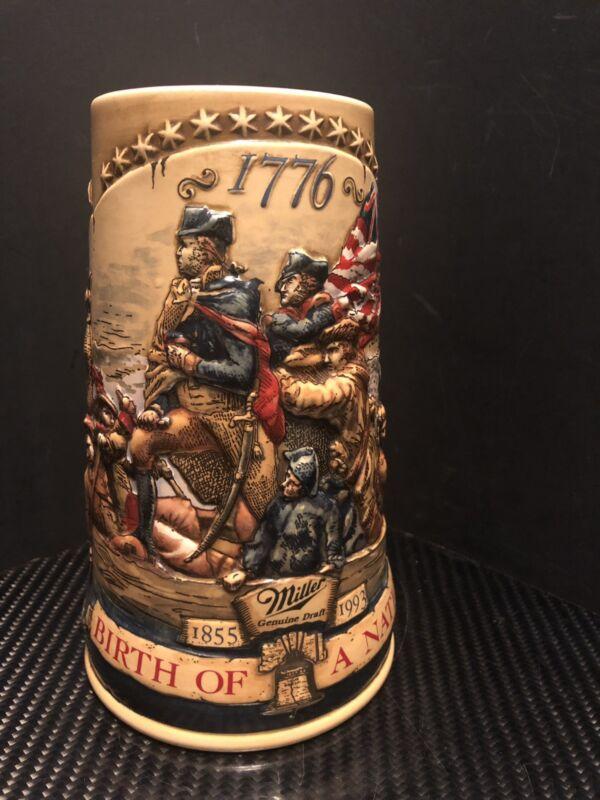 VTG MILLER Genuine Draft Birth Of A Nation Beer Stein Third In A Series SN 08469