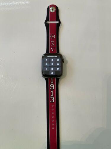 Delta Sigma Theta Apple Watch Band Size 42/44 Black