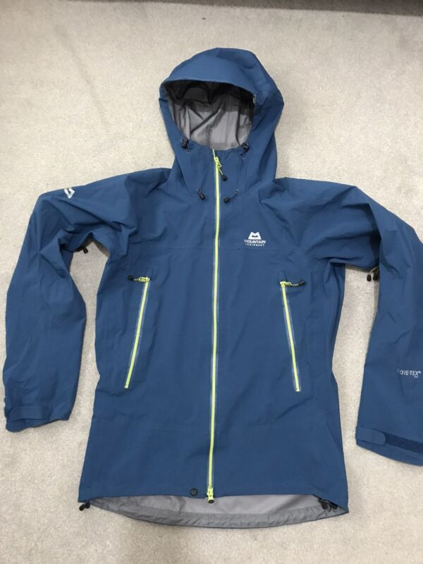 Mountain Equipment Men JANAK GORE-TEX PRO Jacket Size Medium Blue Marine