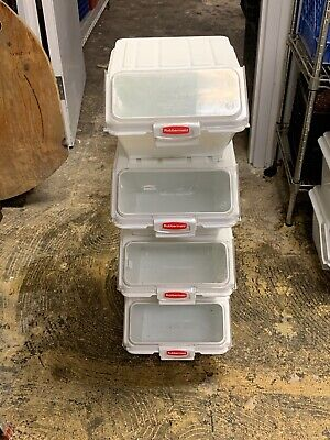 Used Please Clean Before Use Rubbermaid Commercial Prosave Shelf-storage Bins