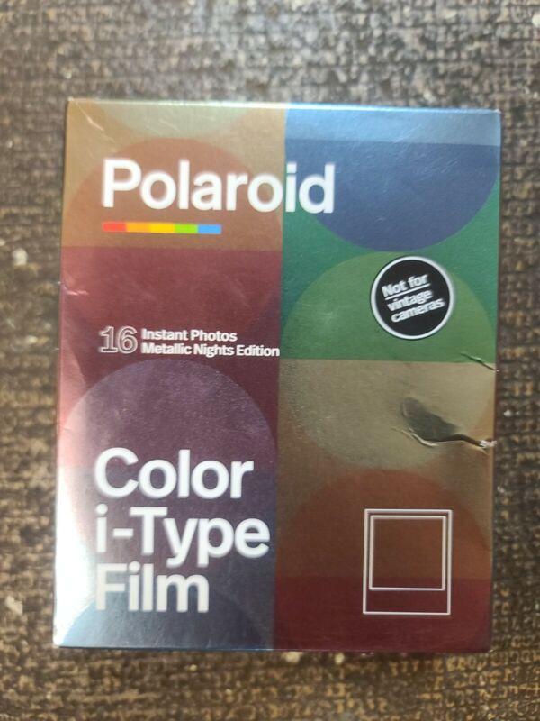 Polaroid Originals Instant Color i-Type Film, Metallic Nights Edition, 16 Photos
