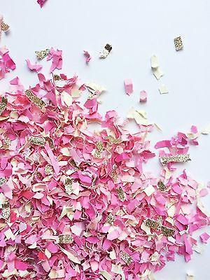 Pink and gold Princess confetti 2 cups gender reveal girl shower party birthday