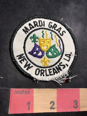 DAMAGED!!! As-Is!!! Vintage NEW ORLEANS MARDI GRAD MASKS Louisiana Patch 87N7 ()