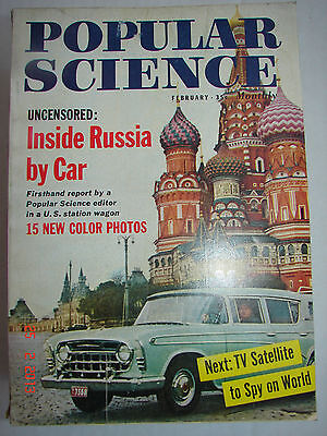 Popular Science   Feb  1958   Tv Satellite To Spy On World   Inside Russia Bycar