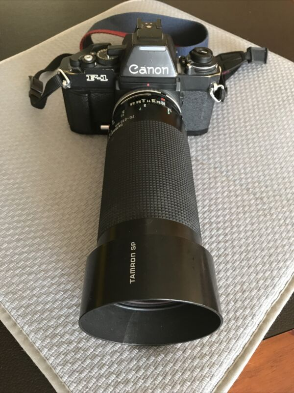 Canon F1 Camera With Multiple Lenses and Accessories