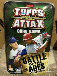 2010 MLB Topps Attax Battle of the Ages Tin Set. Brand New Factory Sealed Tin!