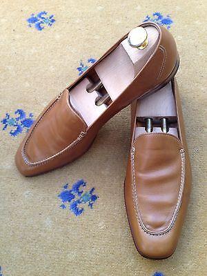 John Lobb Men's Tan Brown Leather Loafers Shoes UK 10 US 11 EU 44 Moccasin
