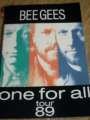 Bee Gees Concert Tour Program 1989 Barry Robin Maurice Gibb Brothers