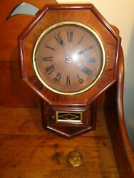 1800's Rosewood Wall Clock - Unusual Size 17 3/4