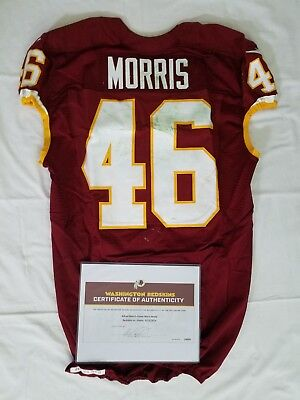 8fff4757a  46 Alfred Morris - Washington Redskins Game Used   Unwashed vs. Giants  With COA