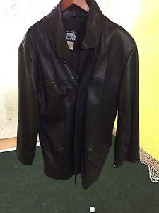 Roots men's leather jacket