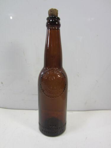 Vintage August Wagner & Sons Amber Beer Bottle- Columbus, Ohio