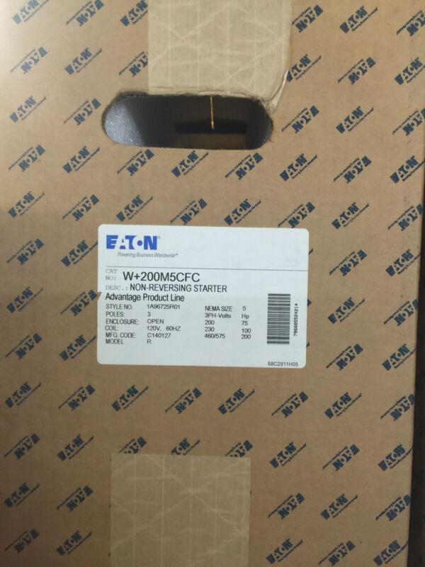 Eaton W-200m5cfc Size 5 Non Reversing Starter 120 Volt Coil