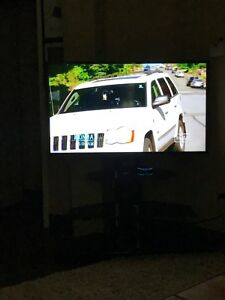 "55"" Samsung smart tv and stand"