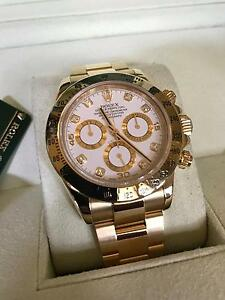 Rolex Daytona solid gold white diamond dial Norwood Norwood Area Preview