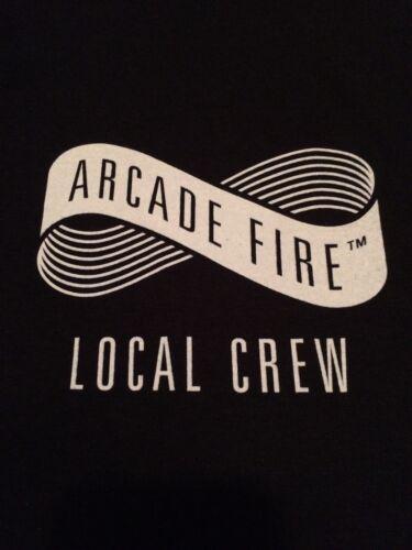 Arcade Fire Local Crew T-shirt w/set list and pass Brand New/Never Worn