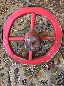 Primitive wheel barrel wheel from outport nfld