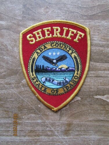 ADA COUNTY IDAHO ID SHERIFF POLICE PATCH RED