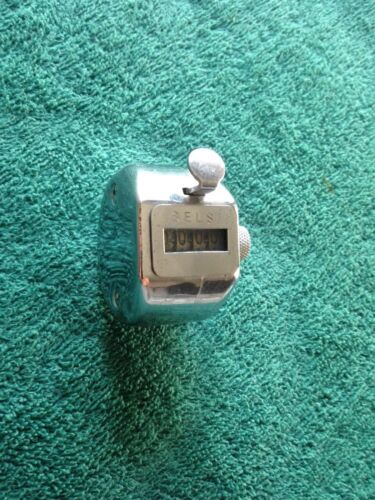 Vintage - Selsi Hand Held Stainless Steel Number Counter 0-9999