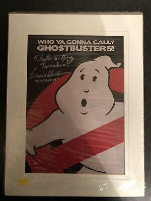 Signed Ghostbuster Ernie Hudson Mounted Photo With Quote And Proof