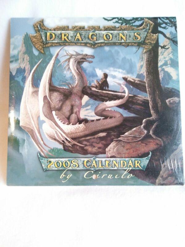 "Dragons 2008 Calendar By Ciruelo New Sealed 7""x7"" collector"