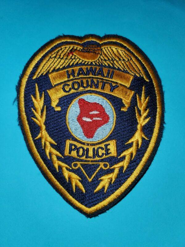 Hawaii County Police Patch