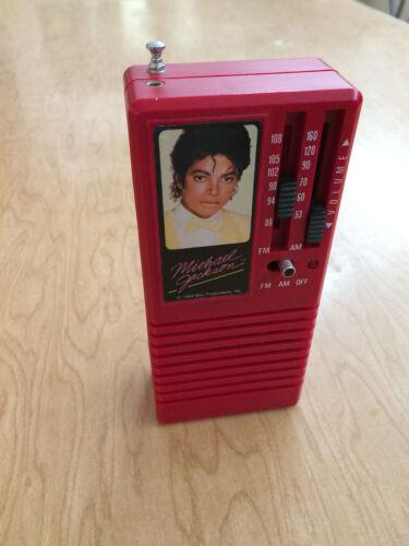 Collectible 1984 MICHAEL JACKSON Radio w/Antenna AM FM Vanity Fair ERTL Works!