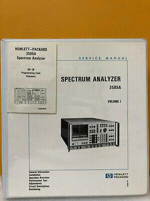 Hp Agilent 03585-90006 3585a Spectrum Analyzer Serive Manual Vol. I