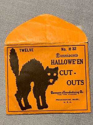 Antique Halloween Dennison Cat Cut Outs No. 32