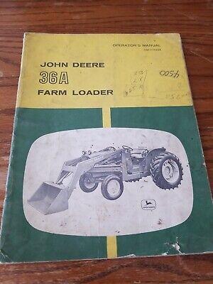 John Deere 36a Farm Loader Operators Manual Omc15494