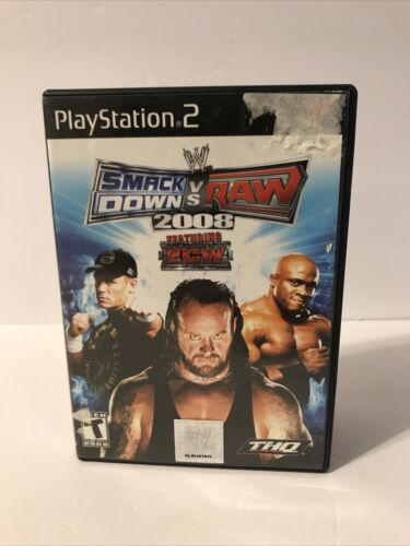 WWE Smackdown Vs. Raw 2008 Sony Playstation 2, PS2 Featuring ECW Tested - $13.99