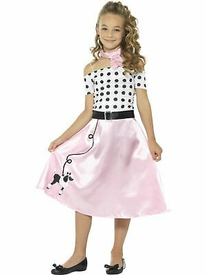 Girls 1950s Poodle Costume Kids Fancy Dress Outfit rock n roll  Grease Dresup - Grease Girl Outfits