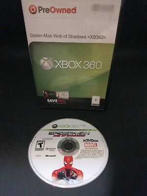 Spider-Man: Web of Shadows (Microsoft Xbox 360, 2008) Disc only Tested