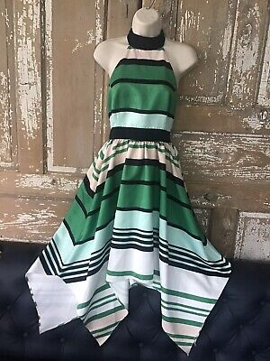 Anthropologie Candymint Halter Dress by Troubadour Size 4 Petite $268