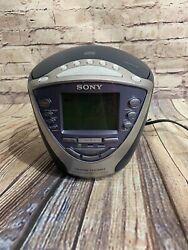Sony Dream Machine ICF-CD843V CD Player AM/FM/Weather Alarm Clock Radio