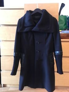 Rudsak all black trench coat small / petit