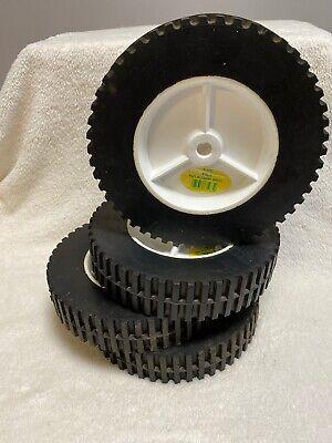 "8"" Diameter Plastic Universal Offset Replacement Lawn Mower Wheel 1-3/4"" Wide"