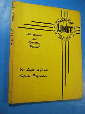 Unit Crane Manual Operating Maintenance A B Sn 61047 Up