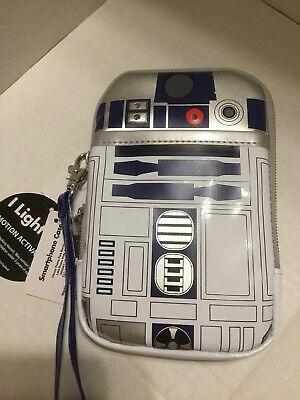 Disney Parks D-Tech Star Wars R2d2  Cell Phone & Tech Case Light Up Wristlet NEW for sale  Clermont