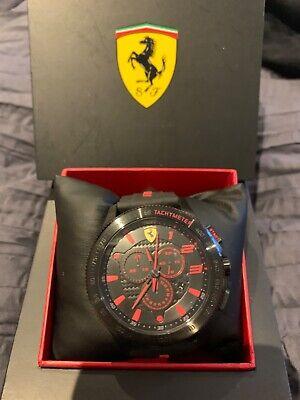 Ferrari Scuderia Silicone Band Watch (Black & Red)