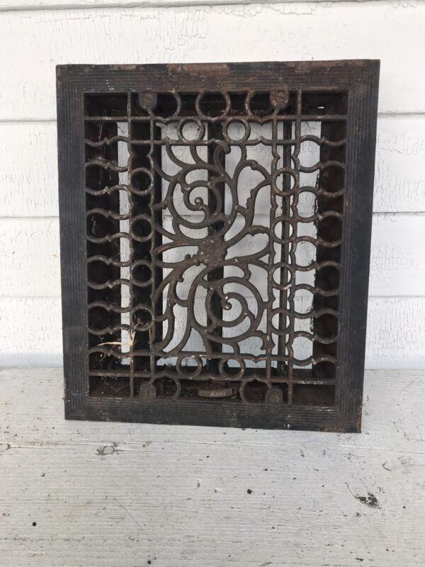 Antique Cast Iron Floor Register Grate Vent Louvers Cold Return Heat Quaility