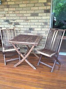 3 piece timber outdoor setting The Gap Brisbane North West Preview