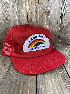 Vintage Materials Division USA Patch Mesh Adjustable Trucker Snapback Hat Cap
